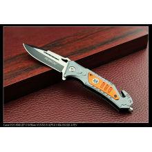 Cuchillo de aluminio de la manija que acampa (SE-135)
