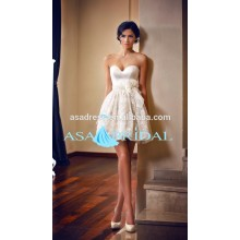 Sexy Bridal gowns Beach Baby girl wedding dresses patterns Lace short wedding dress2015 (YASA-5097)