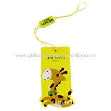 Cute Hang Tag, Made of High Quality Paper, Cheap Price, OEM Orders are Available