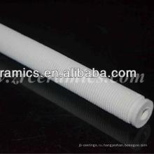кордиеритовая керамическая трубка с винтовой нарезкой