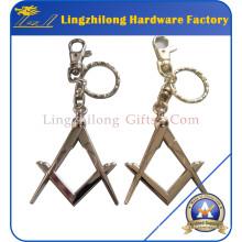 Masonic Square Keychain Masonic Regalia Keyring