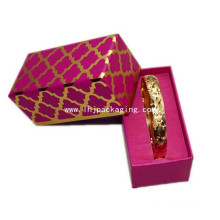 High Quality Cardboard Bracelet Gold Gift Paper Box