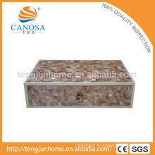 CPN-AB Artesanato Natural caixa de acessórios de Shell rosa para Hotel Amenity