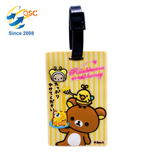Cheap Price Custom Logo Soft PVC Travel Id Name Cute Design Luggage Tag