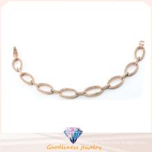 Jóias de moda para as mulheres pulseira de prata rosa ouro banhado a pulseira jóias de prata esterlina para a senhora Bt6601