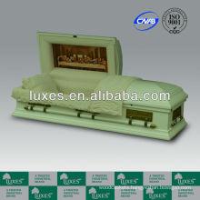 Wooden funeral casket