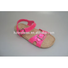 Cheap stock shoes size 28-37 kid's shoes shimmer pink sandals birkenstock slippers cork sole beach sandals for girls