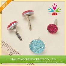 High quality glitter craft decor craft scrapbook pin brad