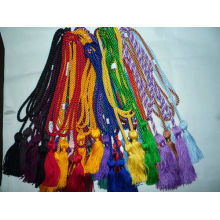 rayon thread tassel, small silk or leather tassel