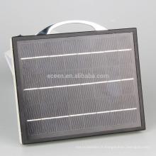 2016 mini kits solaires pour système d'éclairage domestique avec 3W petites lampes led solaires pour l'éclairage solaire intérieur