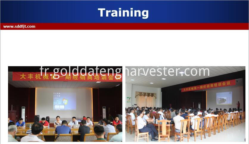 Price Of Automatic Unloading Grain Rice Harvester Training