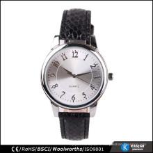 Bracelet noir femme montre acier inoxydable retour quartz japon
