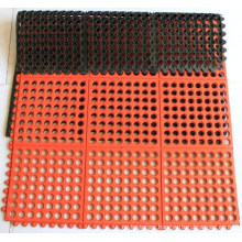 Heavy-Duty Elastic Anti-Fatigue Safety Interlocking Rubber Drainage Floor Mat