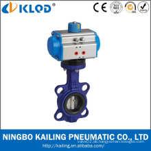 DN50 2 Zoll Wafer Typ Luft Wasser Absperrklappen mit pneumatischen Stellantrieb