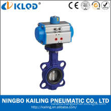 DN50 2 inch wafer type air water butterfly valves with pneumatic actuator