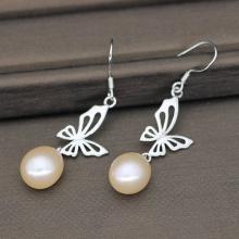 Fashion Dangle Freshwater Pearl Earrings For Wedding