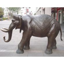 Escultura animal hecha a mano del elefante de bronce del arte del metal
