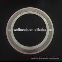 316 (L) Grafite / Fg / Cgi / Spiral Wound Gaskets com anel interno e externo (SUNWELL)