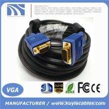 Cable de cable VGA SVGA de oro largo con cable HD15 Pin para monitor Proyector TV 1,5 m, 1,8 m, 2 m, 3 m, 5 m, 10 m, 20 m, 30 m, 40 m, 50 m