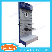 retail shop metal material slatwall panel display rack