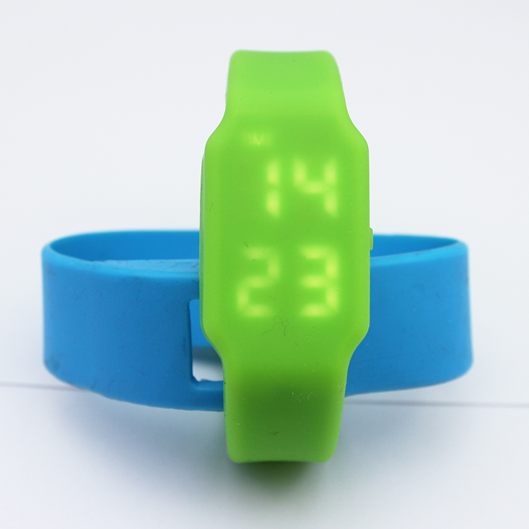 Colorful Silicone Bracelet LED memory watch