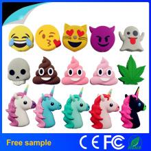 Hot Venda Cartoon PVC Emoji Power Banco Portable Carregador de Bateria Móvel