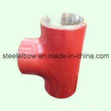Tee de tubo de acero de carbono