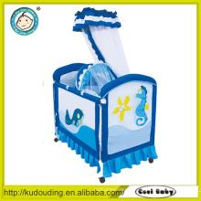 Novo modelo de design confortável cama de bebê recém-nascido