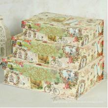 Caja de anidación de papel de impresión exquisita con tapa de aleta de imán