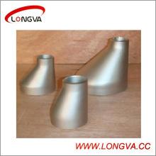 Reductor de encaje tubular de acero inoxidable excéntrico