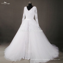 RSW807 V Neckline Detachable Skirt Wedding Dresses Removable Skirt Tulle Overskirt