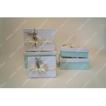 Light Blue Handmade Flower Gift Box
