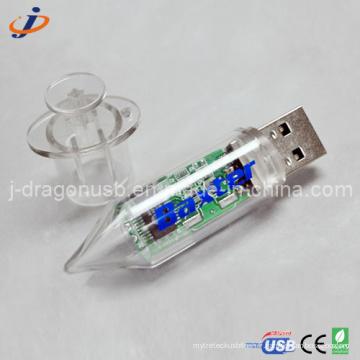 Plastic Drive USB Syringe USB pour promotion
