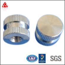 DIN 467-1986 tuerca moleteada chapada en zinc