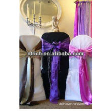 Polyester chair cover and satin sash for wedding and banquet