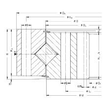 Rothe Erde Engranaje interno Anillo de giro de rodillos cruzados (162.20.0630.890.11.1503)