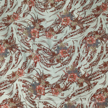 Grüner Jacquard-Strickstoff aus textilem Polyester