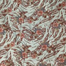 Tecido de poliéster de tecido jacquard de malha verde