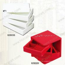 Новый деревянная Коробка ювелирных изделий для подарка
