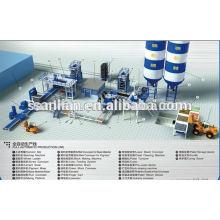 Produção de blocos de cimento