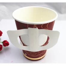 Tasse de papier de mur simple de 9oz bon marché avec la poignée faite en Chine
