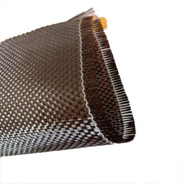 Rollo de tela de tela de fibra de carbono de sarga Fibra