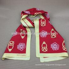 100% soie foulard imprimé pour homme