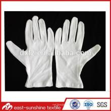 Guante de algodón personalizado para la limpieza, guante de algodón suave para la limpieza
