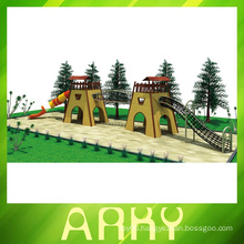Popular kids commercial fun wood outdoor playground