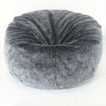 Gray comfortable bean bag