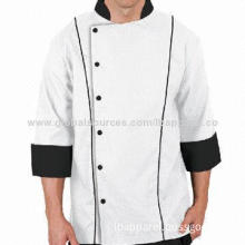 Traditional Fit 3/4 Sleeves Japanese Style Chef Uniform for Men with Snap Front