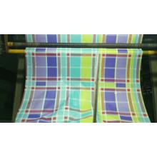 Tissu de drap en polyester emballé en rouleau