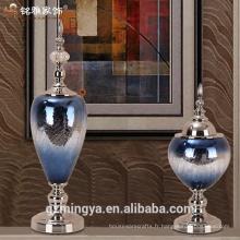 Vases en verre clair et haut pour centres de mariage, vase en verre pour fleurs