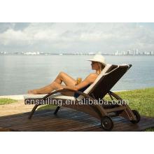 Venda quente Outdoor All Weather espreguiçadeira de praia empilhável